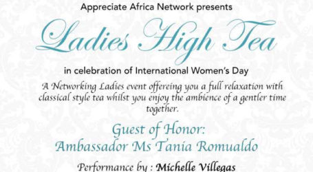 International Women's Day: Ladies High Tea Saturday, March 10th